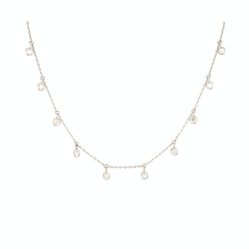 Diamond Dangling Drop Necklace