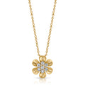 Gold Flower Penant necklace