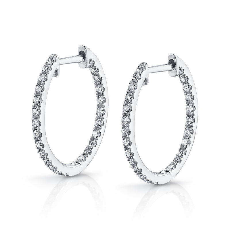 Inside Out Diamond Hoops