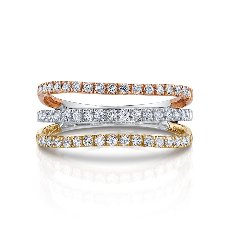 Tri-Color Diamond Karoline Band