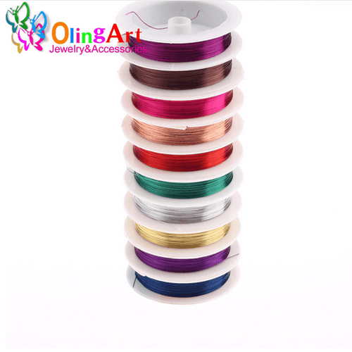 OlingArt Multicolor Plated Roll Copper Wire