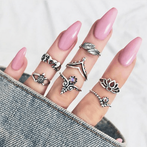 7pcs/Set Midi Finger Knuckle Rings