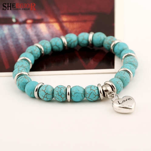 SHEEGIOR Bohemian Turquoises Charm Bracelets for Women