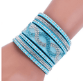 Leather Bracelets with Wrap Bracelet and Clasp Charm Bracelets Bangles