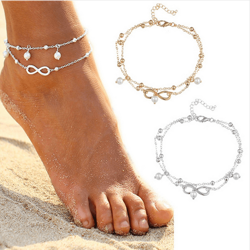 Vintage Bohemian Summer Barefoot Sandal Chain Ankle for Women