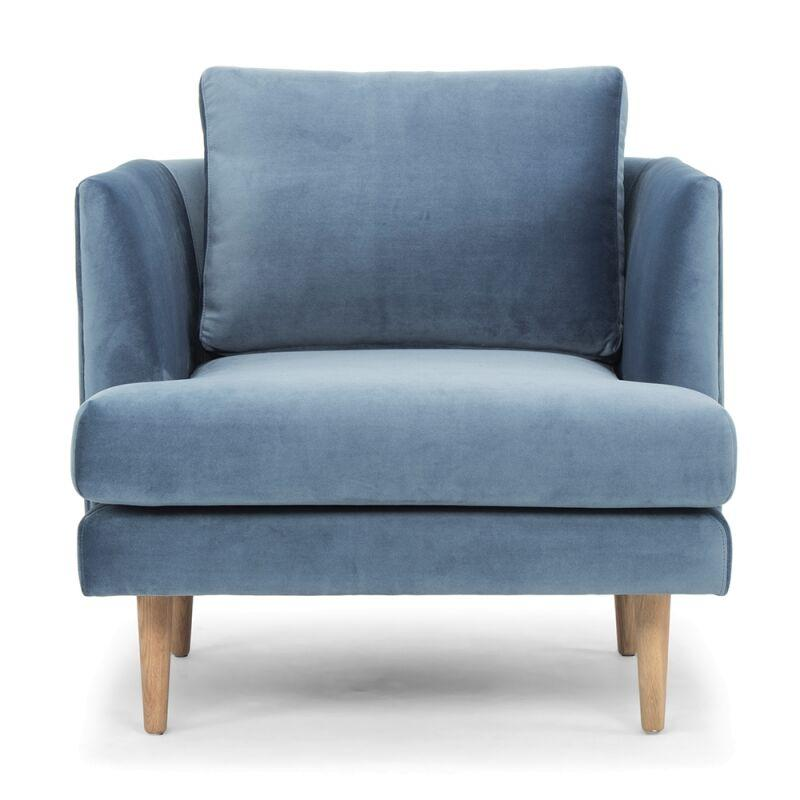 Asher Blue Lounge Chair