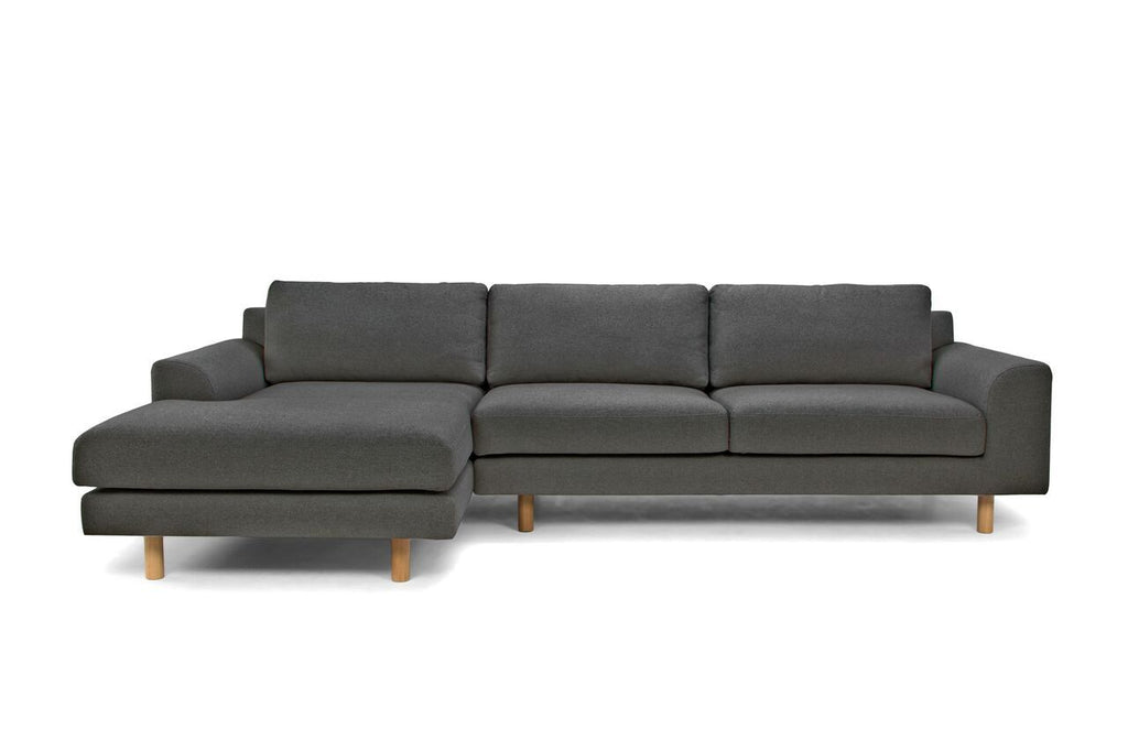 Crest 3 Seater Charcoal Sofa