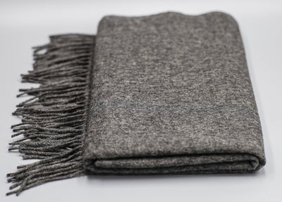 The Wharf Cashmere Scarf Grey