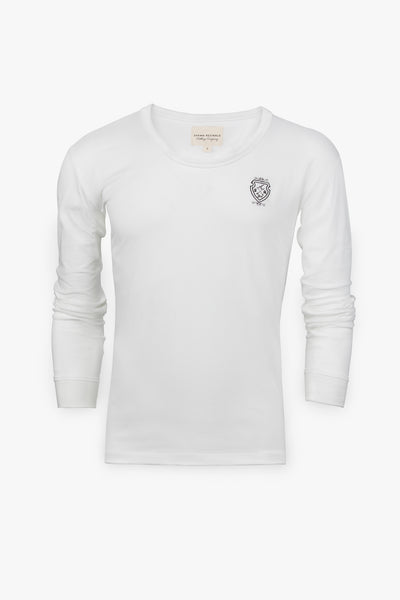 Long Sleeve Custom T-Shirt (White)