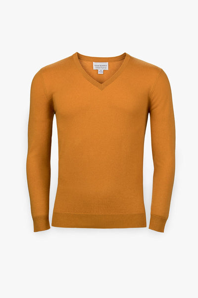 Pebble Beach V-Neck Sweater-Orange Slice