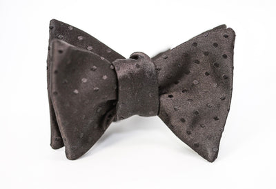 Black on Black Polka-Dot Bow Tie