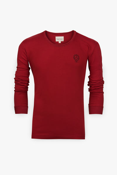 Long Sleeve Custom T-Shirt (Red)