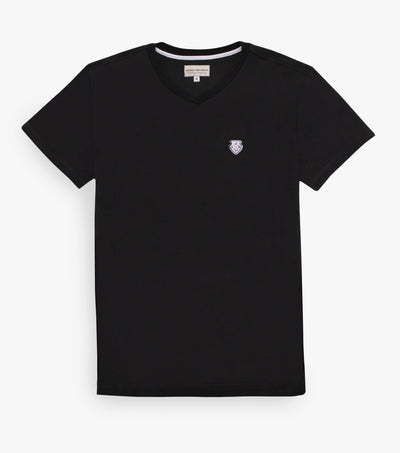 V-Neck Custom T Shirt Black