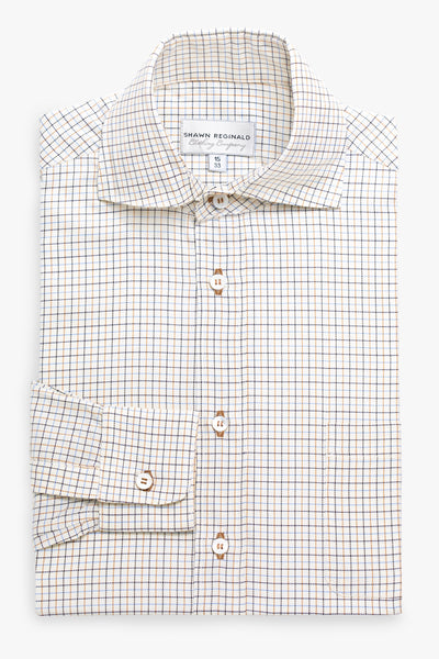 Napa Spread Collar Plaid Yellow