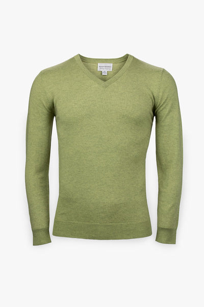 Pebble Beach V-Neck Sweater-Lime