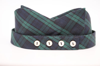 Blue & Green Stripe Plaid Bow Tie