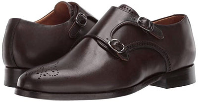 Double Monk Dress Shoe (Cafe Brushed) by Marc Joseph New York