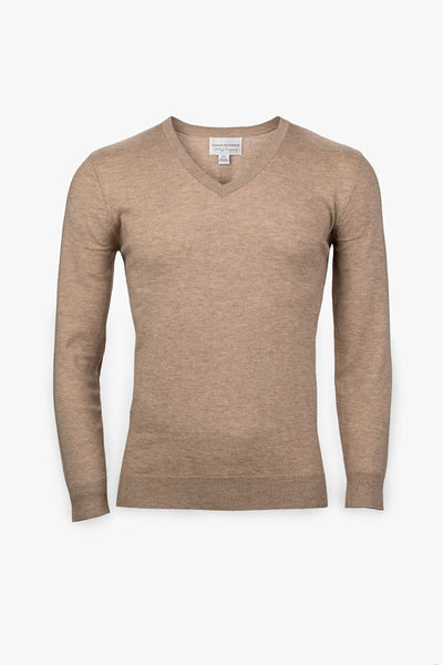 Pebble Beach V-Neck Sweater-Taupe