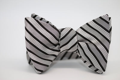 Grey with black striping Bow Tie