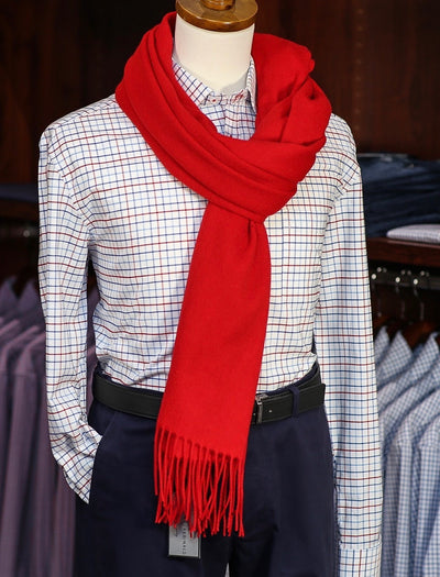 The Wharf Cashmere Scarf Red