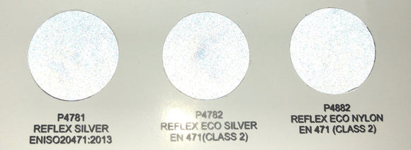 REFLEX SILVER (3M Scotchlite TM) - by the Sheet - Heat Transfer Vinyl - 30cm x 50cm