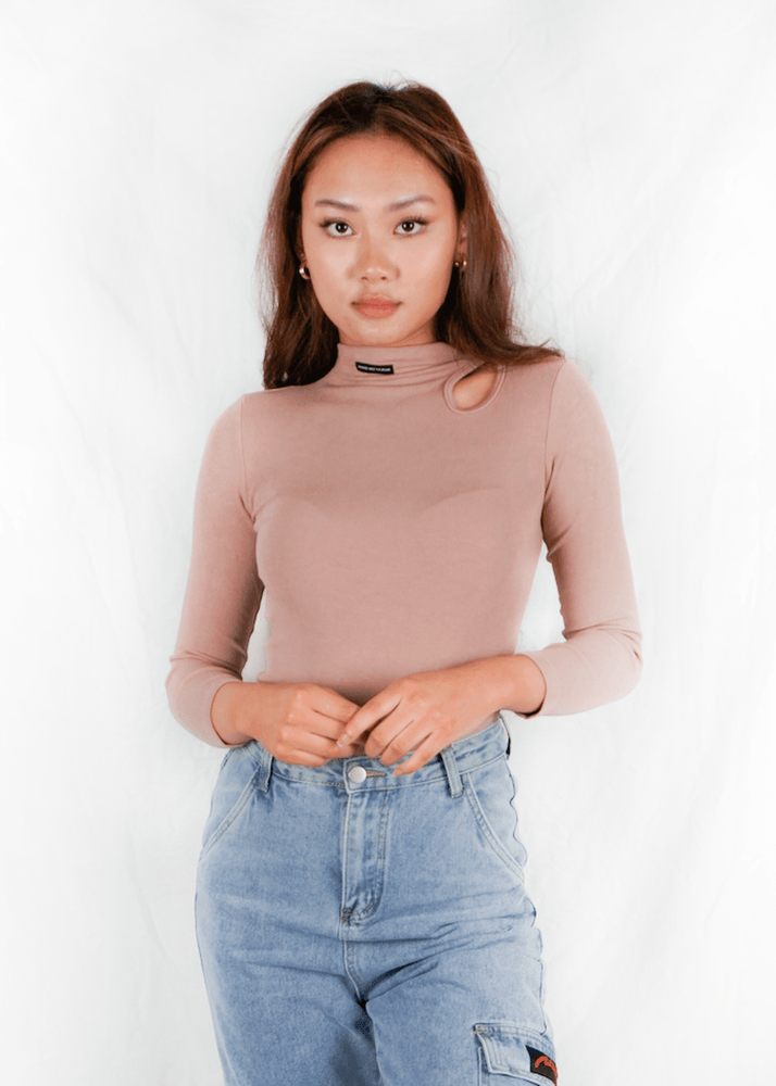 Soft Pink Turtleneck