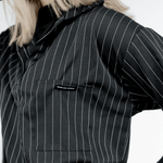 Turtleneck Striped Blouse