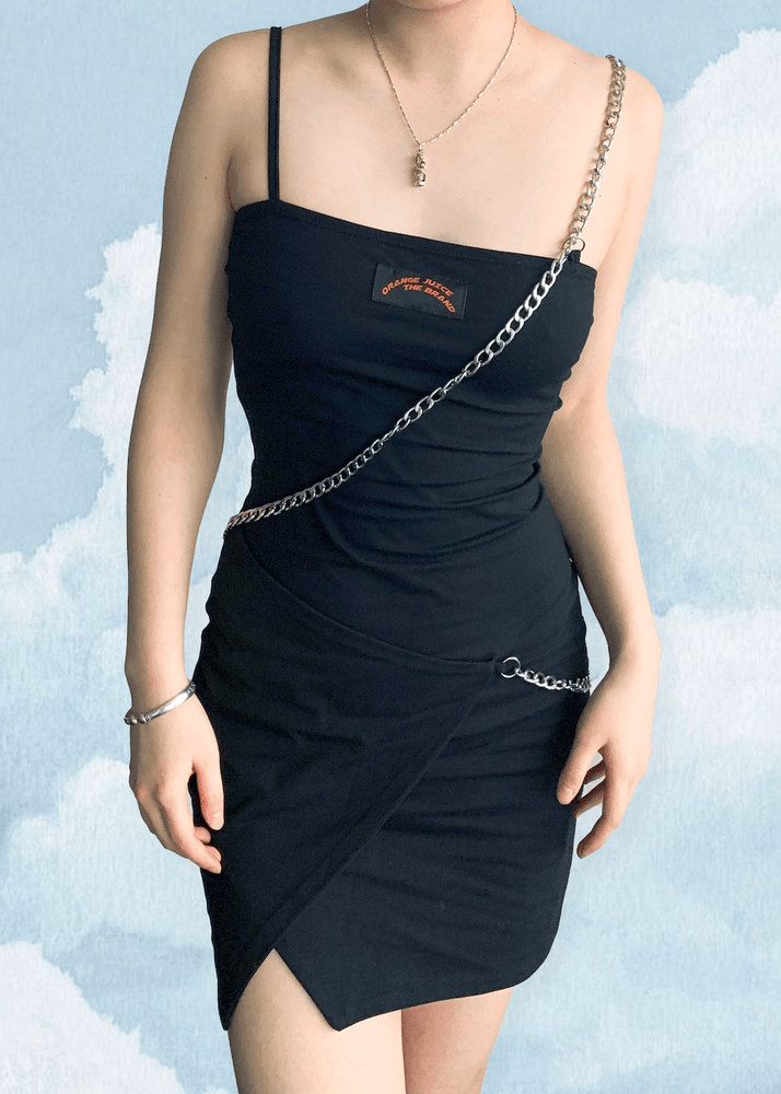 Chained Black Dress