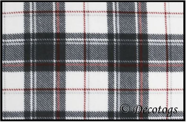 BLACK WHITE RED PLAID (Luxe)
