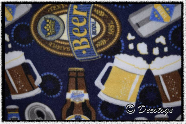 BEER ON BLUE