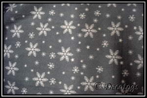 BOW TIE SNOWFLAKES - Custom Pullover or Snugglie