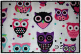 BRIGHT PINK AND PURPLE OWLS (Anti Pill)
