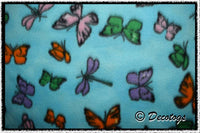 BUTTERFLIES AND DRAGONFLIES ON BLUE