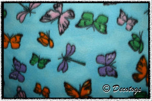 BUTTERFLIES AND DRAGONFLIES ON BLUE - Custom Pullover or Snugglie