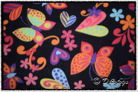 BRIGHT BUTTERFLIES BLACK - Custom Pullover or Snugglie