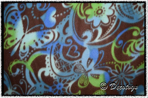 BUTTERFLY SWIRLS BLUE GREEN - Custom Pullover or Snugglie