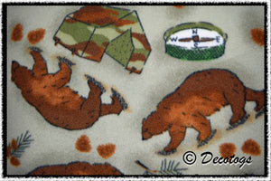 CAMPING BEARS GREEN - Custom Pullover or Snugglie