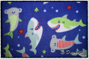 CARTOON SHARKS BLUE - Custom Pullover or Snugglie