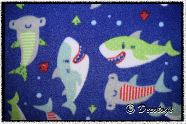 CARTOON SHARKS BLUE