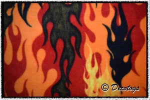 DANCING FLAMES - Custom Pullover or Snugglie