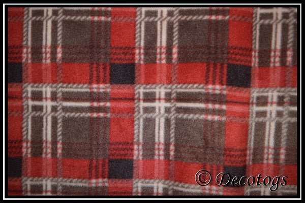 EARTH BROWN RED PLAID