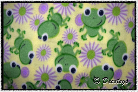 FROG FLOWERS YELLOW - Custom Pullover or Snugglie
