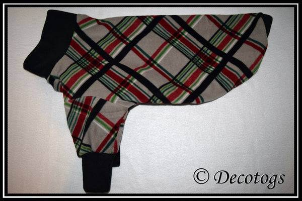 Pullover - GRAY RED GREEN PLAID (Plush)