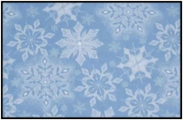 INTRICATE SNOWFLAKES BLUE (Plush)