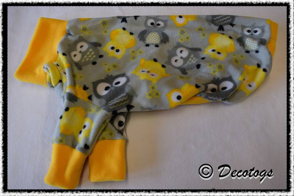 Pullover - LEMON GREY OWLS