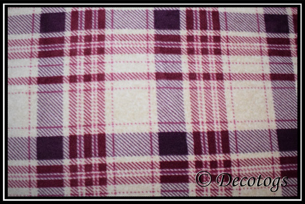 Luxe - OATMEAL BURGUNDY PLAID