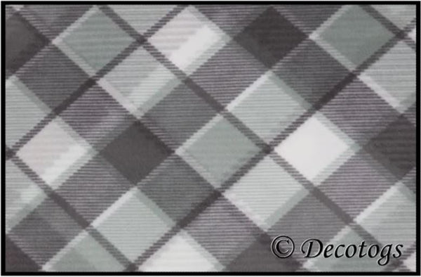MINT GRAY PLAID (Plush)