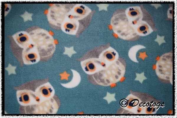 MOONLIGHT OWLS TEAL (Anti Pill)