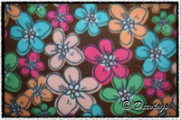 PASTEL FLOWERS BROWN