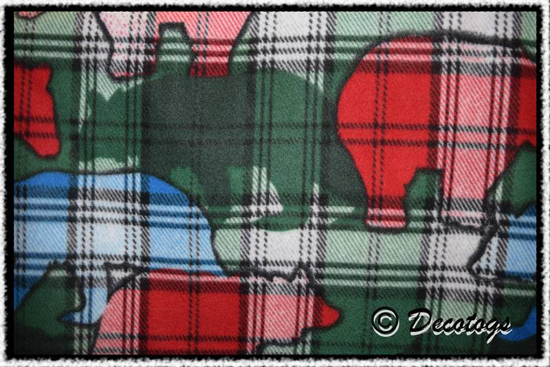 PLAID BEARS GREEN - Custom Pullover or Snugglie